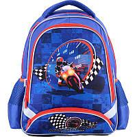 Ранець (рюкзак)школьныйдля мальчика - Мотоцикл (мотогонщик),517 MotocrossK18-517S Kite