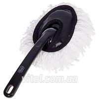 Щетка автомобильная для сметания пыли Vitol 915, текстиль, антистатик, ручка пластик, щетка для авто, авто-щетка