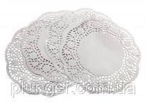 Салфетка ажурная бумажная круглая, ф 9 см (цена за упаковку)