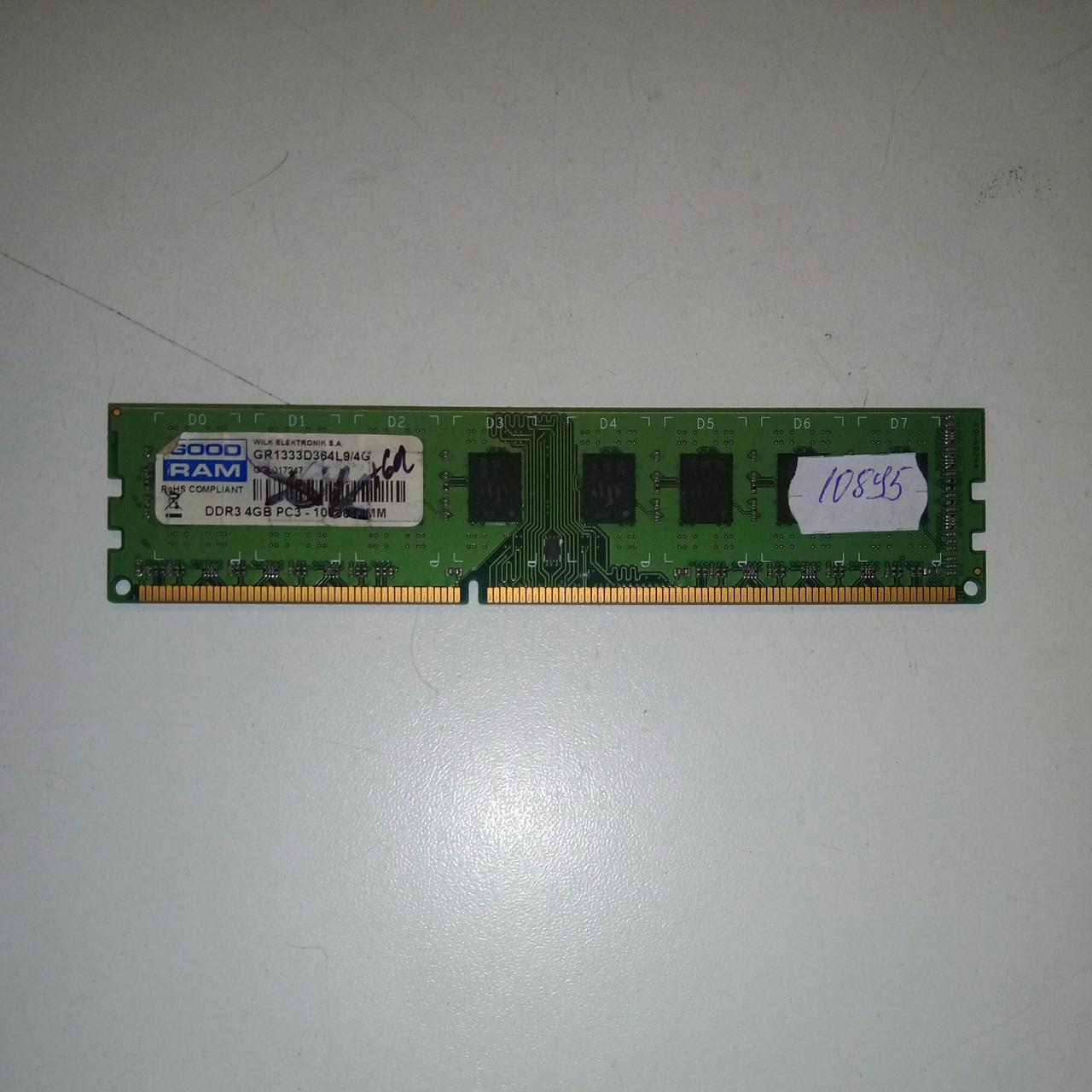 Модуль памяти DDR3 4Gb PC3-10600 GoodRam (GR1333D364L9/4G)