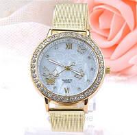 Наручные часы женские с кристаллами код 121