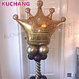 Фольгированный воздушный шар гигант корона золотая 90 × 76 см, фото 6