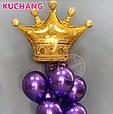 Фольгированный воздушный шар гигант корона золотая 90 × 76 см, фото 5