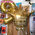 Фольгированный воздушный шар гигант корона золотая 90 × 76 см, фото 3