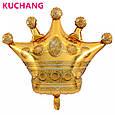 Фольгированный воздушный шар гигант корона золотая 90 × 76 см, фото 4