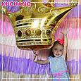 Фольгированный воздушный шар гигант корона золотая 90 × 76 см, фото 2
