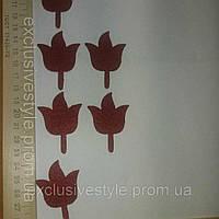 Аппликация термоклеевая красный цветок