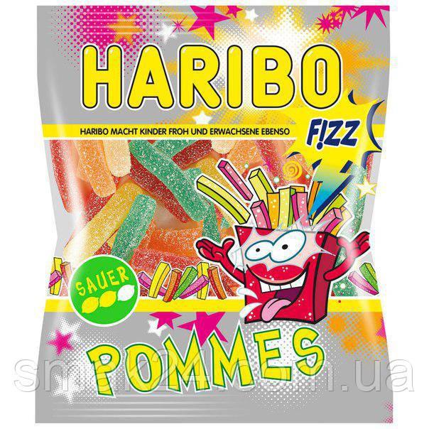 Желейные конфеты Haribo Pommes кислые  (картофель фри) Германия 200г