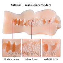 Реалистичный мастурбатор для мужчин с мягким силиконом Stretchy, PALOQUETH 3D Vagina Pocket Pussy, фото 2
