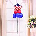 Фольгований повітряна куля зірка капітан америка 45 див., фото 4