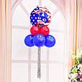 Фольгований повітряна куля зірка капітан америка 45 див., фото 3