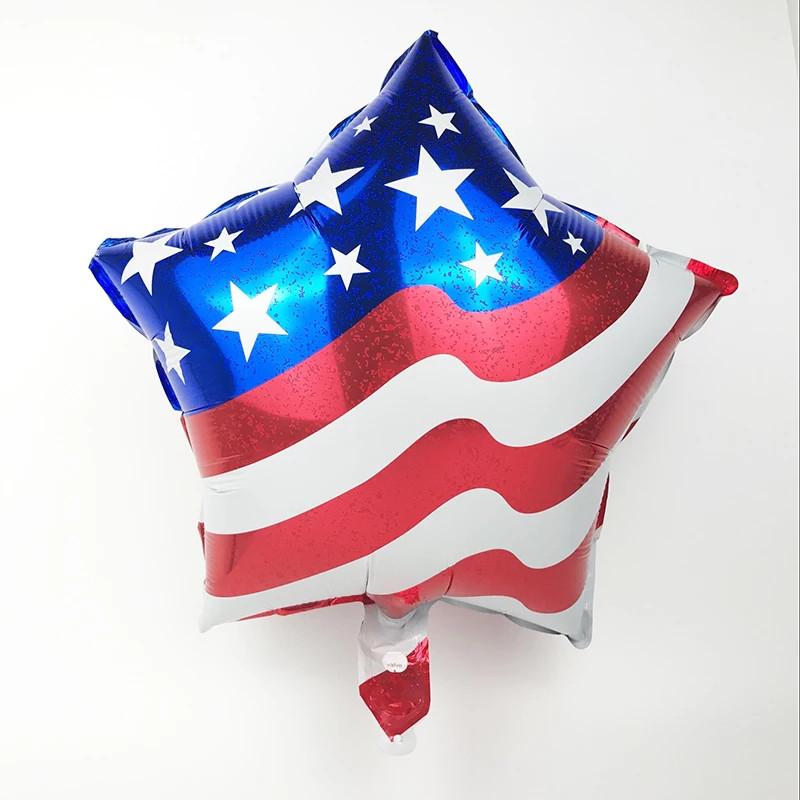 Фольгований повітряна куля зірка капітан америка 45 див.