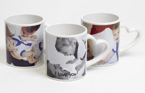 Печать фото на чашках Love ручка сердце