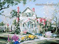 Картина по номерам MENGLEI Дом в цветах (MG299, MS231) 40 х 50 см