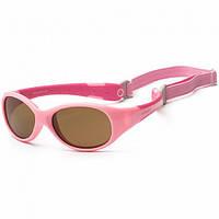 Детские солнцезащитные очки koolsun ks-flps003 розовые серии flex