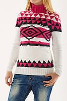 Зимний свитер шерсть 50%