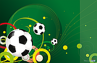 Подкладка для письма Футбол с карманом panta plast 0318-0035-95