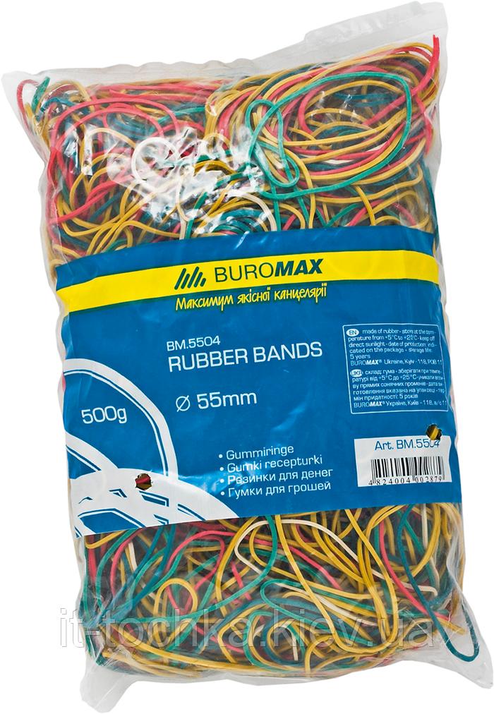 Резинки для денег buromax bm.5504 ассорти 500г jobmax