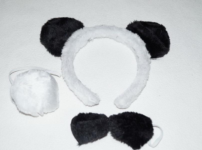 Костюм панда. Черно - белый