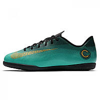 Бутсы Mercurial Vapor Club CR7 Junior Indoor Football ClearJade/Gold - Оригинал