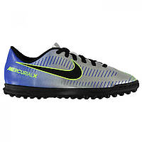 Сороконожки Nike Mercurial Club Neymar Junior Blue/Chrom/Volt - Оригинал