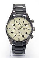 Мужские наручные часы Tissot (Тиссот), антрацитовый корпус с серебристым циферблатом
