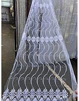 Тюль фатин с вышивкой Анива 3010