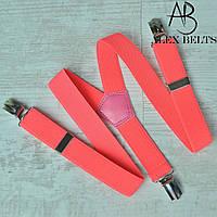 Подтяжка детскаяY однотонная (ярко-розовый)унисекс 25 мм - купить оптом в Одессе