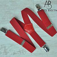 Подтяжка детскаяY однотонная ( красный)унисекс 25 мм - купить оптом в Одессе