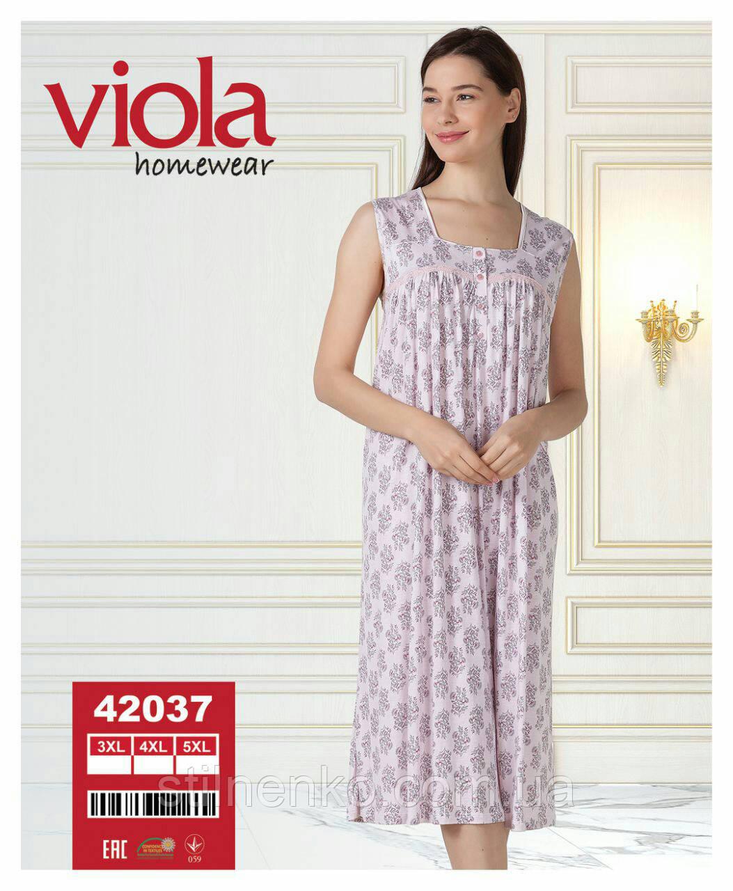 """Длинная ночная сорочка """"Viola"""" 3XL-5XL"""