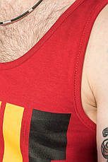 Майка мужская с ярким принтом 184F005-3 (Бордо), фото 2
