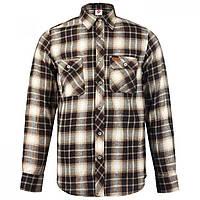 a8e9e4a790b Рубашка Lee Cooper Slim Fit Check Brown Beige - Оригинал. Сертифицированная  компания.