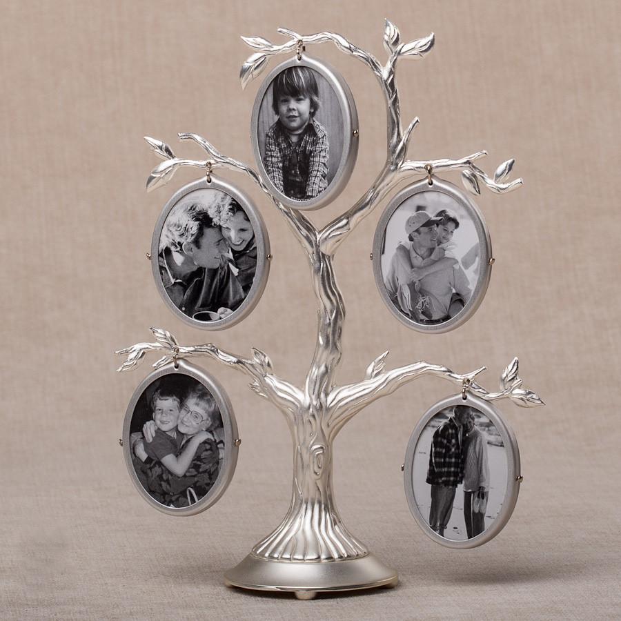 Семейное дерево на 5 фото двухстороннее (19 см) 004-05C