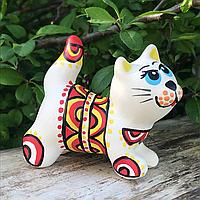 Котенок ручной работы Львовская керамика (02)