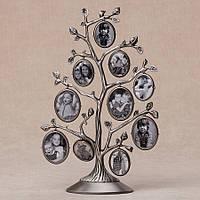 Семейное дерево двухстороннее на 10 фото  (28 см) 036C