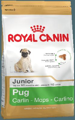 Сухой корм для щенков породы мопс до 10 месяцев Royal Canin Pug Junior 1,5 кг