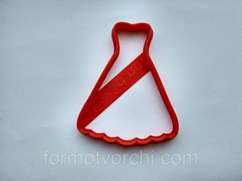 """3D формочки-вырубки для пряников """"Свадебное платье 3"""""""
