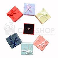 Подарочная коробочка для кольца  и серьг - Микс с розочкой, фото 1
