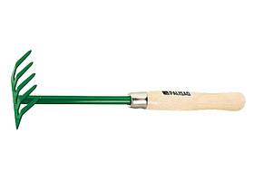 Грабли 5-зубые 90х340 мм, деревянная рукоятка, Palisad