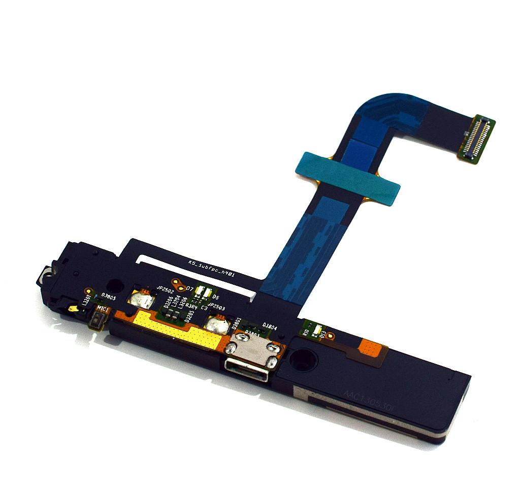 Шлейф Lenovo K900 с коннектором зарядки и наушников, полифоническим ди