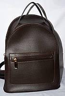 Женский молодежный каштановый рюкзак из эко-кожи 22*30 см, фото 1