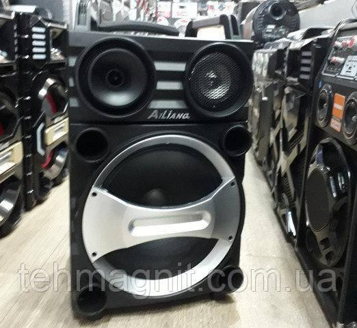Колонка с аккумулятором+ микрофон Ailiang UF-AR12EK-DT автономная акустика (Реплика)