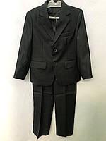 Школьная форма детская костюм тройка -пиджак,жилетка,брюкина мальчика 6-9лет,графитового цвета, фото 1