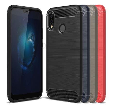 Силиконовый чехол Carbon для Xiaomi Redmi Note 5 / Pro / Стекло есть /