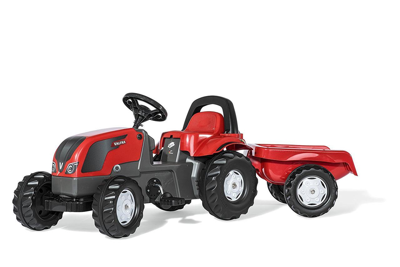 Трактор педальный с прицепом Kid Valtra Rolly Toys 012527