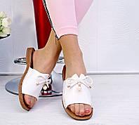 Женские шлепки белые, фото 1