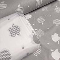 Постельное белье Apple (серые) из ранфорса премиум