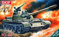 1:35 Сборная модель танка ТО-55, Скиф МК220