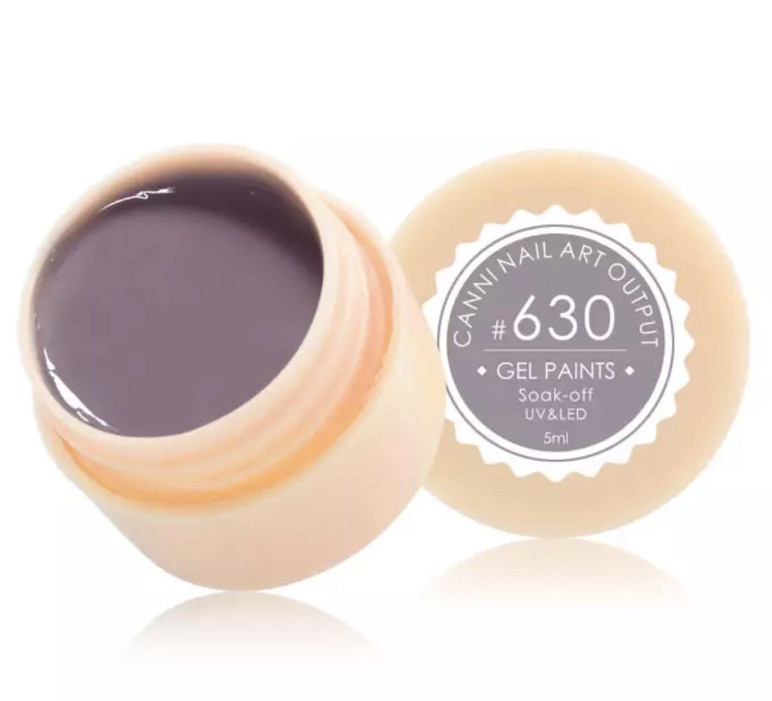 Гель-фарба CANNI 630 (світлий, коричнево-сірий), 5 мл