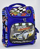 """Детский школьный рюкзак ортопедический 40х32х20см """"РАЛЛИ"""". Портфель, ранец для мальчиков МАШИНА"""